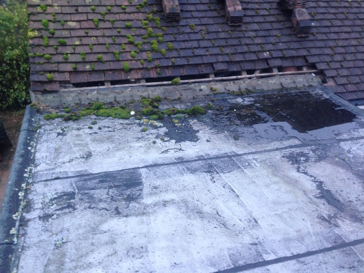 Rubber Roof Hornchurch Essex Before