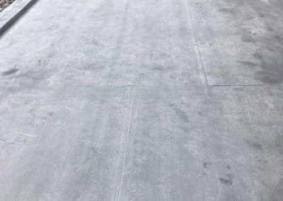 EPDM rubber garage roof