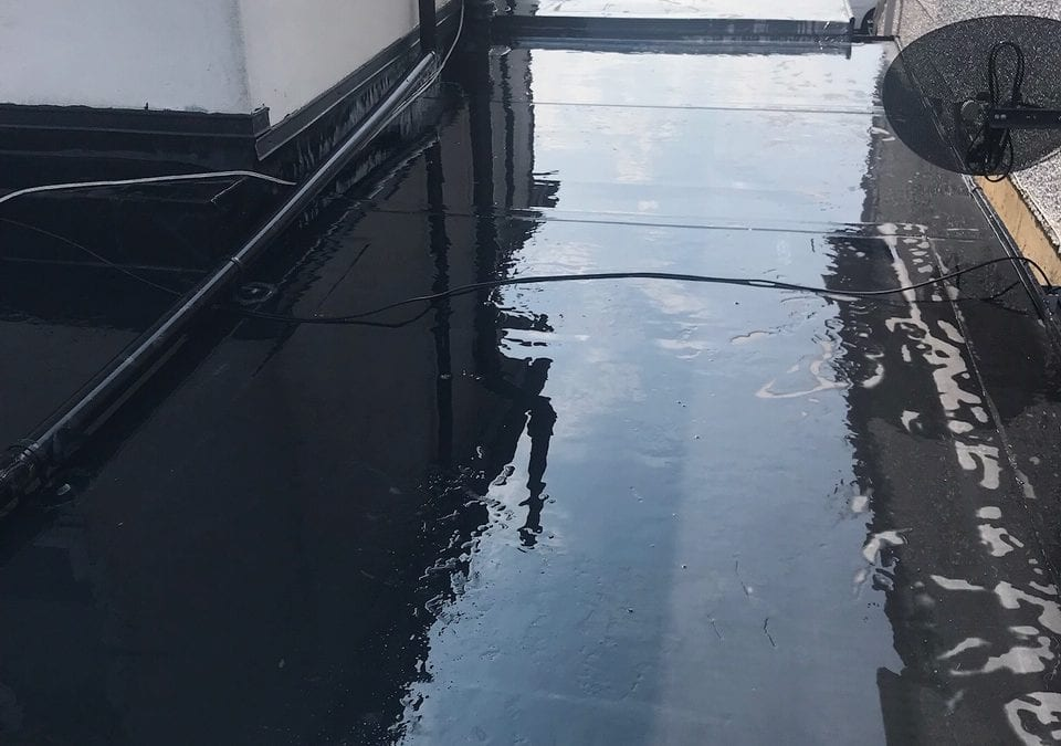 EPDM rubber flat roof