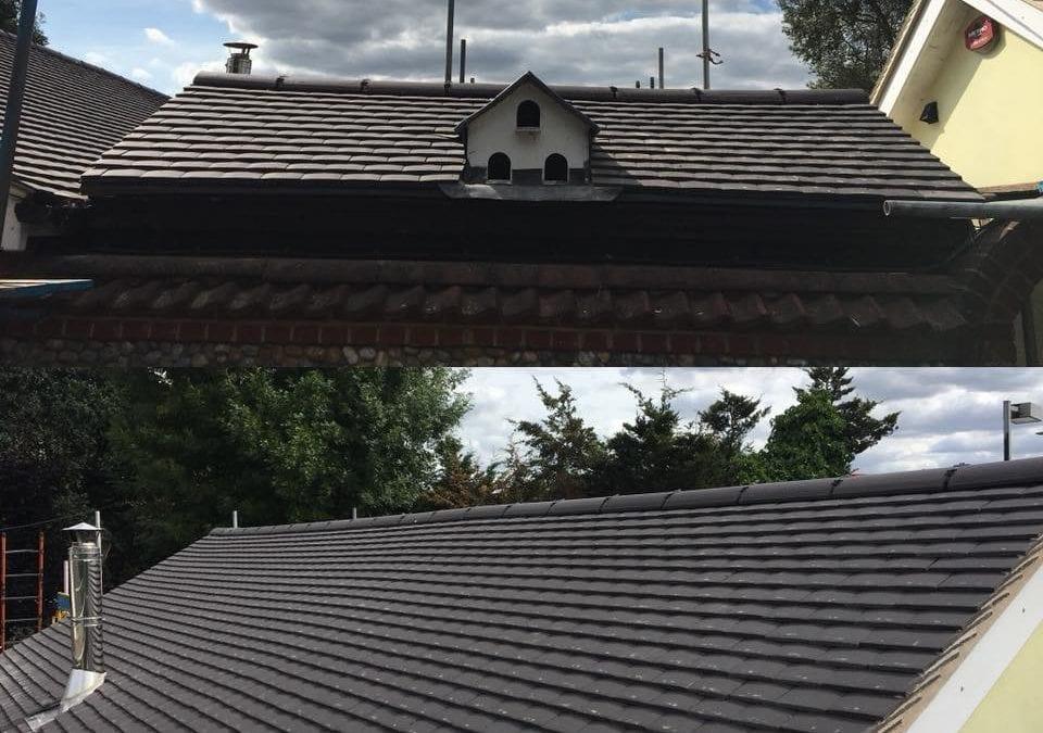 Tiled roof in Warley, Essex
