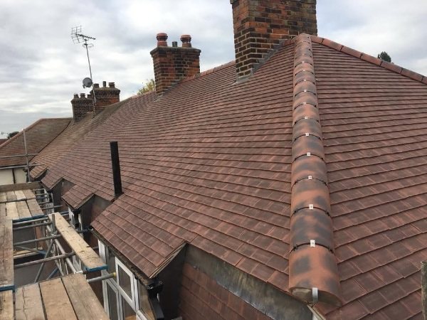 New tiled roof in Romford