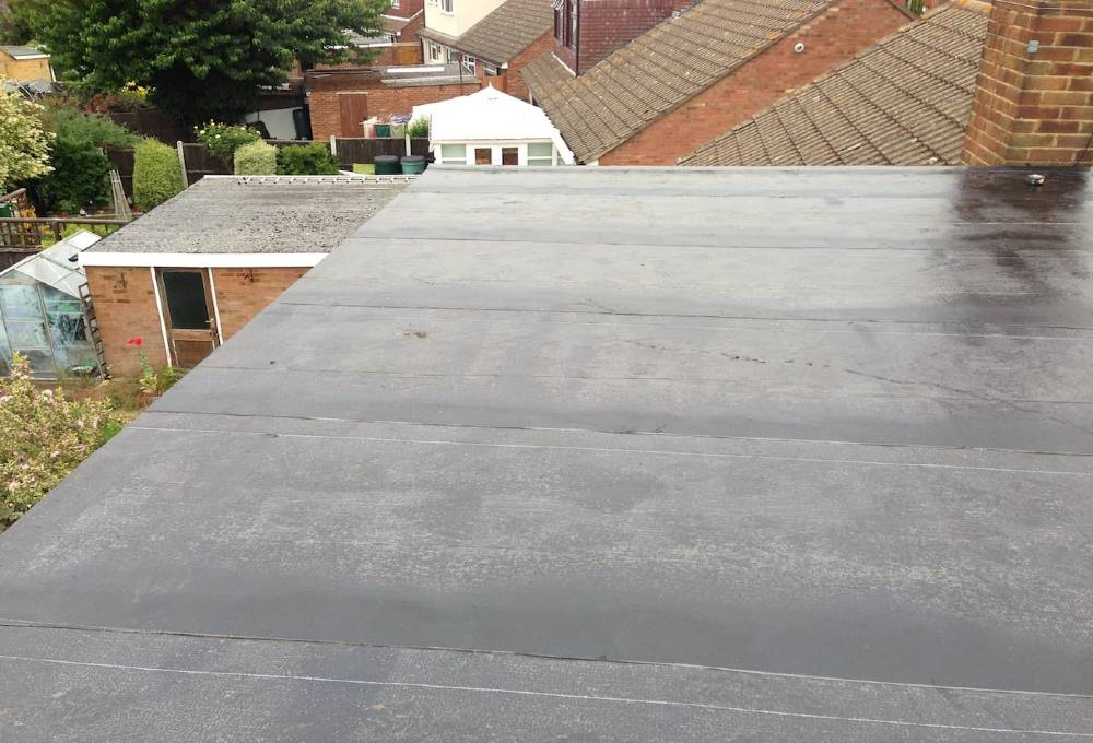 Completed 3 layer felt roof