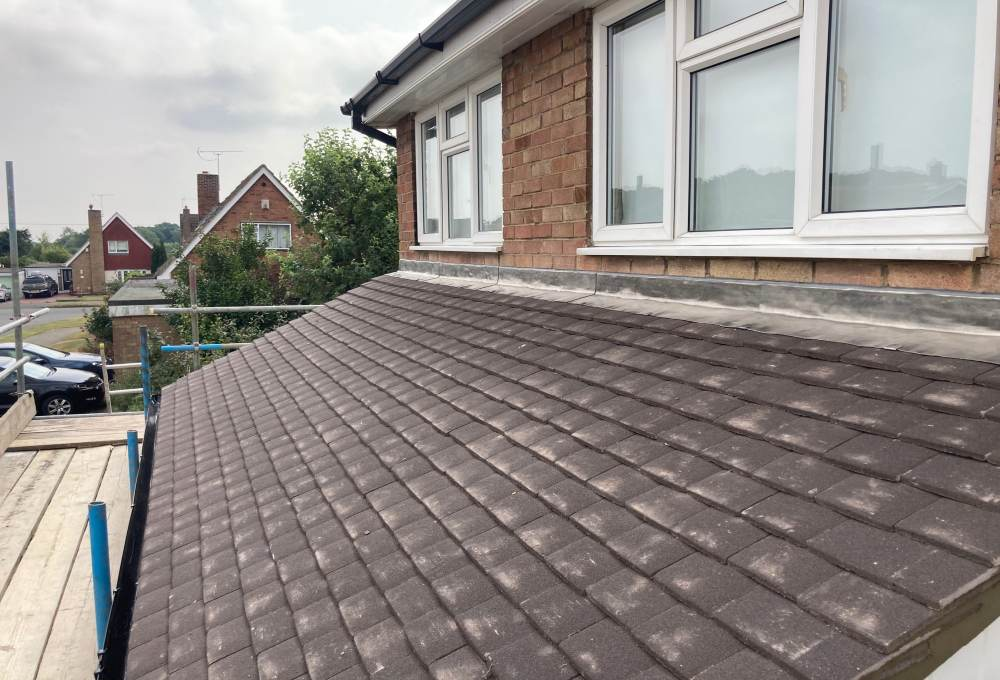 Completed tiled pitched roof