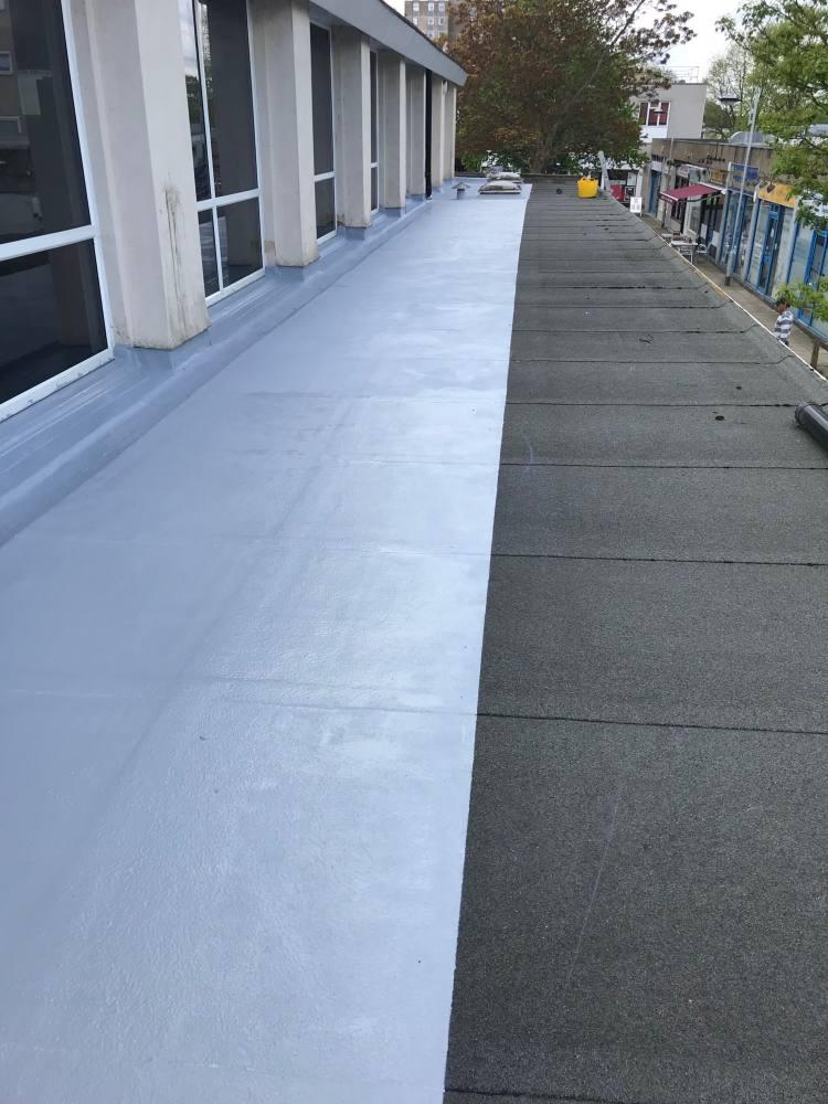 Liquid plastic roofing