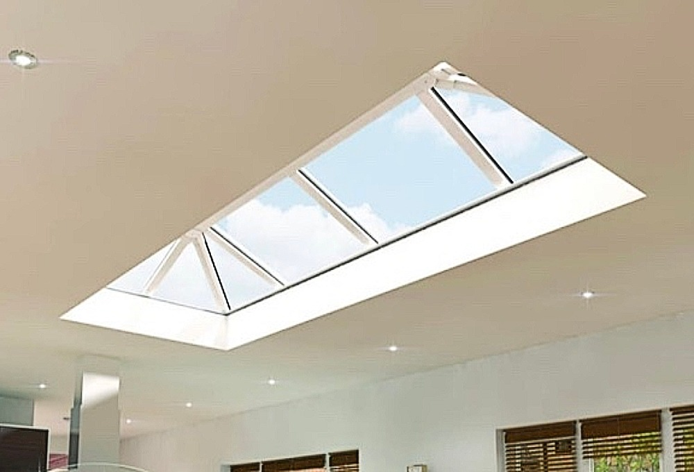 Interior view of installed roof lantern